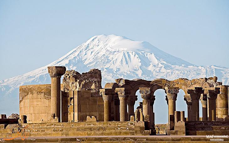 کلیسای جامع زوارتنوتس ارمنستان، نمادی از قدرت مذهبی