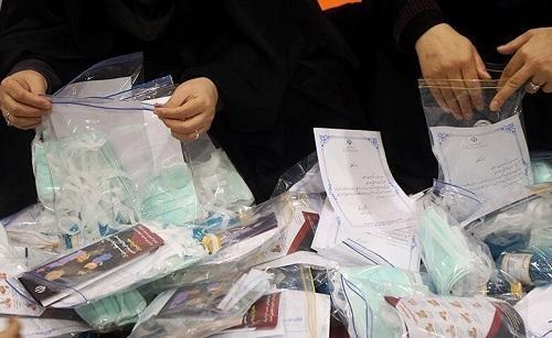 توزیع لوازم بهداشتی بین مردم محروم از سوی گروه جهادی دانشگاه پیغام نور رودان