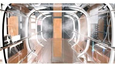تونل ضدعفونی کننده به منظور جلوگیری از شیوع کرونا ساخته شد