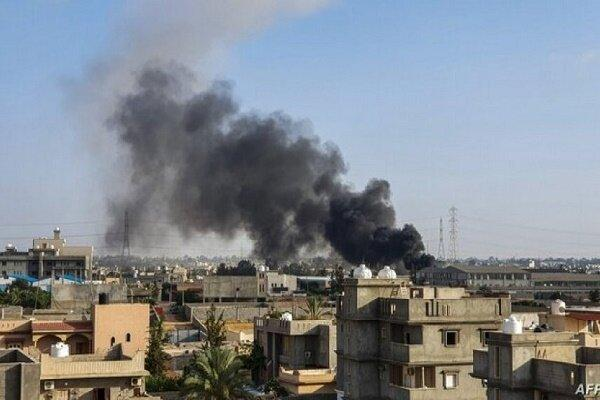 تداوم درگیری ها در لیبی، هدف قرار دریافت هواپیمای نیروهای حفتر