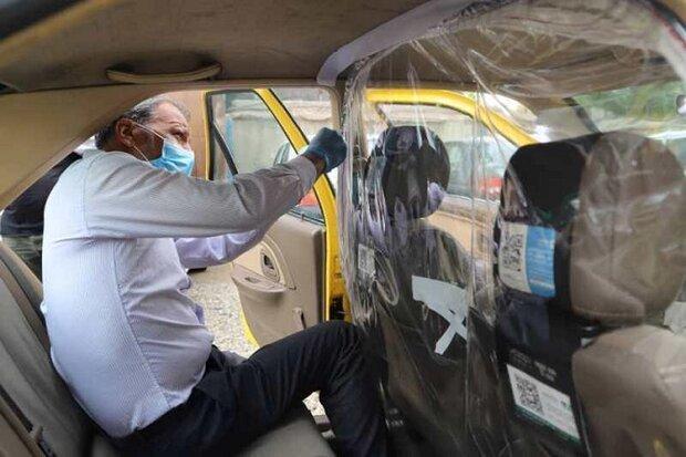 تجهیز تاکسی های فعال در منطقه 2 به کاور جداکننده