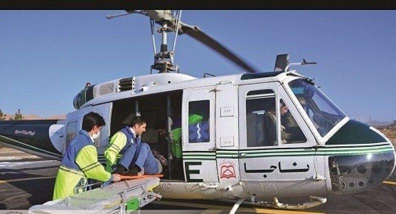 خبرنگاران اورژانس هوایی سبزوار جان 2 مصدوم را نجات داد