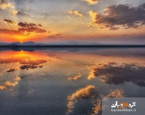 دریاچه مخرگه؛بزرگترین آینه طبیعی ایران در دل کویر کرمان، عکس