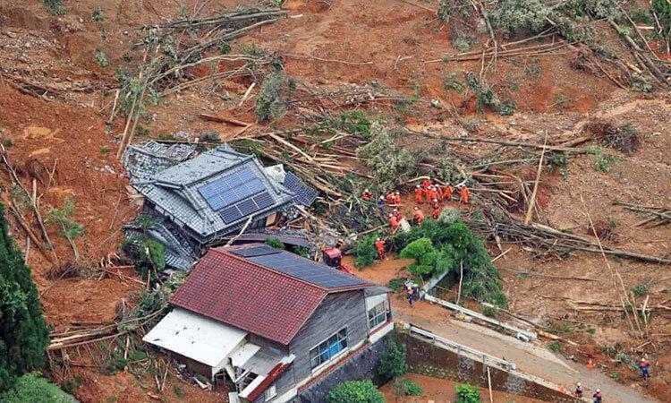 تصاویر ، 50 کشته و ناپدید در سیل مرگبار ژاپن
