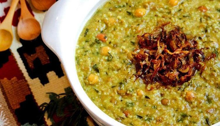 طرز تهیه آش سبزی شیرازی اصیل و کشدار به روش مادربزرگ ها