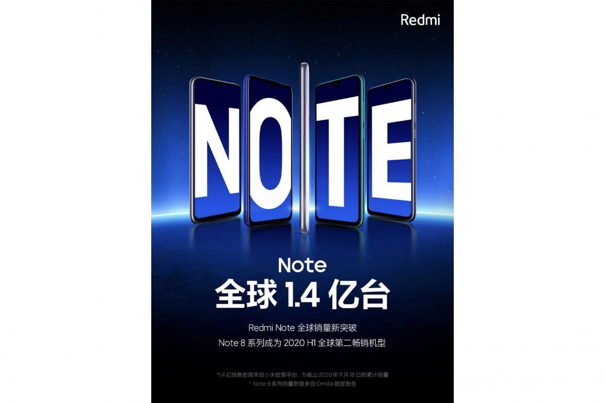 در فروش سری ردمی نوت شیائومی 140 میلیون دستگاه فروخته شد
