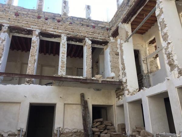 خبرنگاران بازسازی عمارت تاریخی هنری در بافت تاریخی بوشهر شروع شد