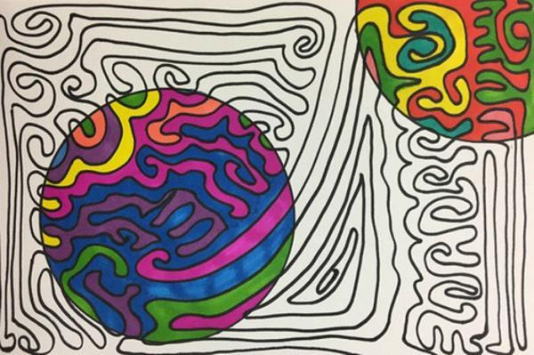 22 ایده رنگ آمیزی و نقاشی اشکال هندسی برای بچه ها