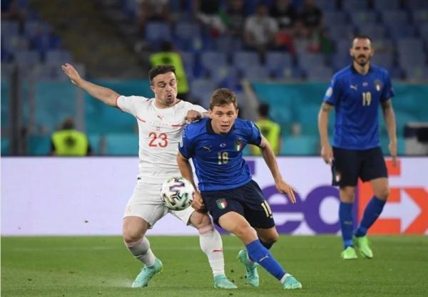 یورو 2020، فزونی ایتالیا مقابل سوئیس وقتی آمار مساوی بود