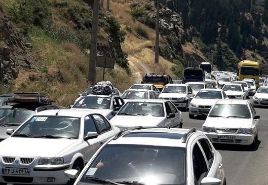 ترافیک سنگین در بعضی مقاطع محور کندوان و آزاد راه کرج ـ قزوین ـ کرج، آزادراه تهران ـ کرج ـ تهران پرترافیک ترین جاده کشور شد